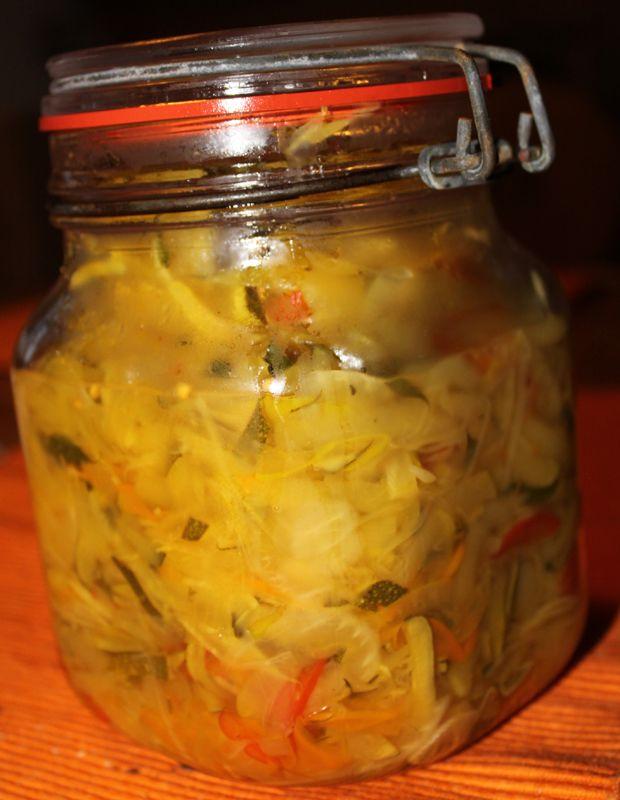 Dampfgarer Rezepte: Zucchinikraut einlegen / Zucchinikraut