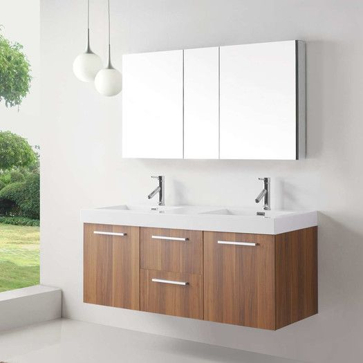 54 Inch Floating Double Sink Bathroom Vanity Unique Bathroom