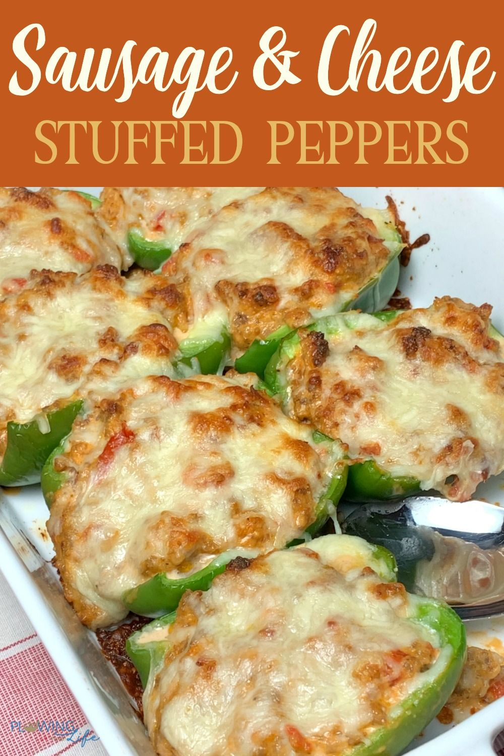 Sausage Cream Cheese Stuffed Bell Pepper In 2020 Stuffed Peppers Stuffed Green Peppers Keto Stuffed Peppers