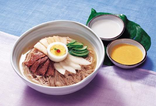 Naengmyeon - my favorite on the hot days! <3