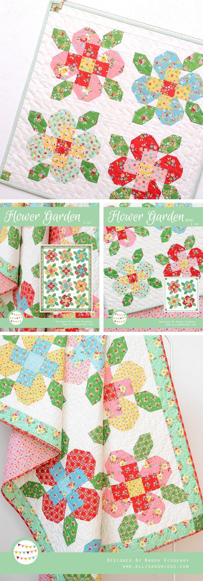Flower Garden Quilts By Nadra Ridgeway Restequilt Quilts Steppmuster