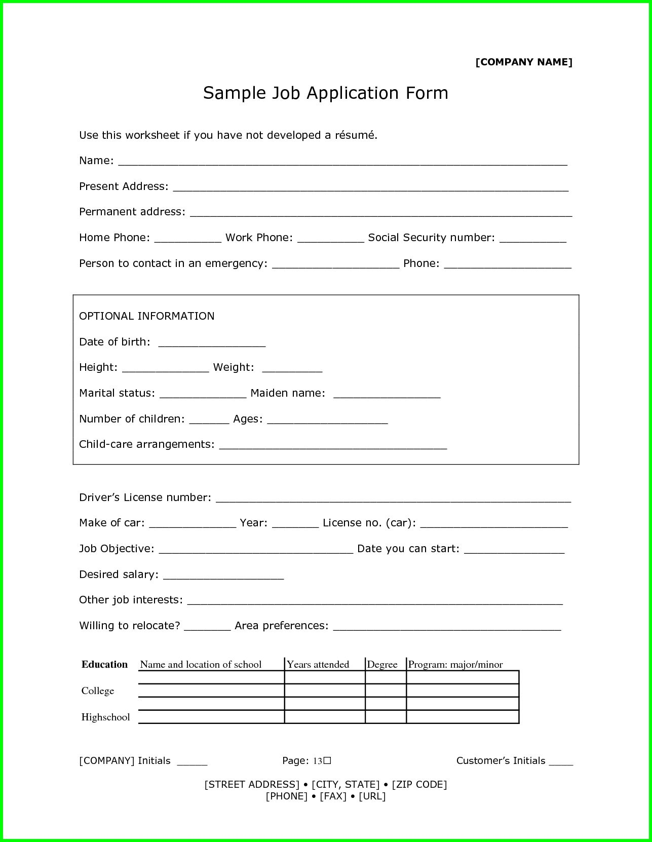 resume template 9 application form word format sendletters