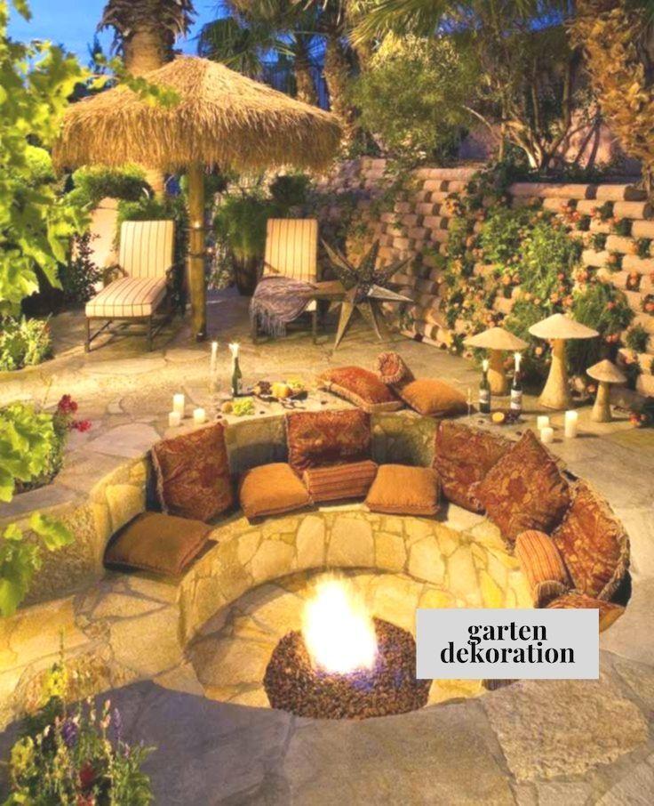 Feuerstelle Gemutlicher Gemtlicher Sitzplatz Gesenkte Runde Eine Ungemutlicher Sitzplatz Un Eine Gesenkte Feuerstelle Garten Hinterhof Gartengestaltung