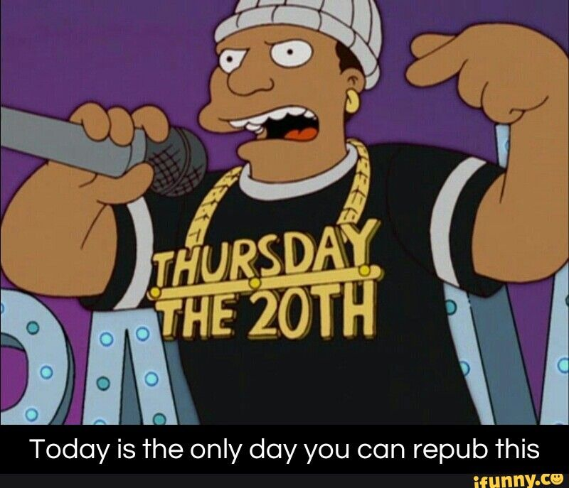 Today is the only day you can repub this
