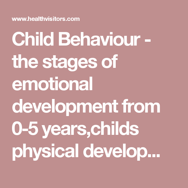 emotional development stages