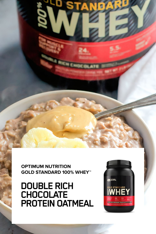 Double Chocolate Protein Oatmeal Oatmeal Protein Oatmeal Chocolate Protein