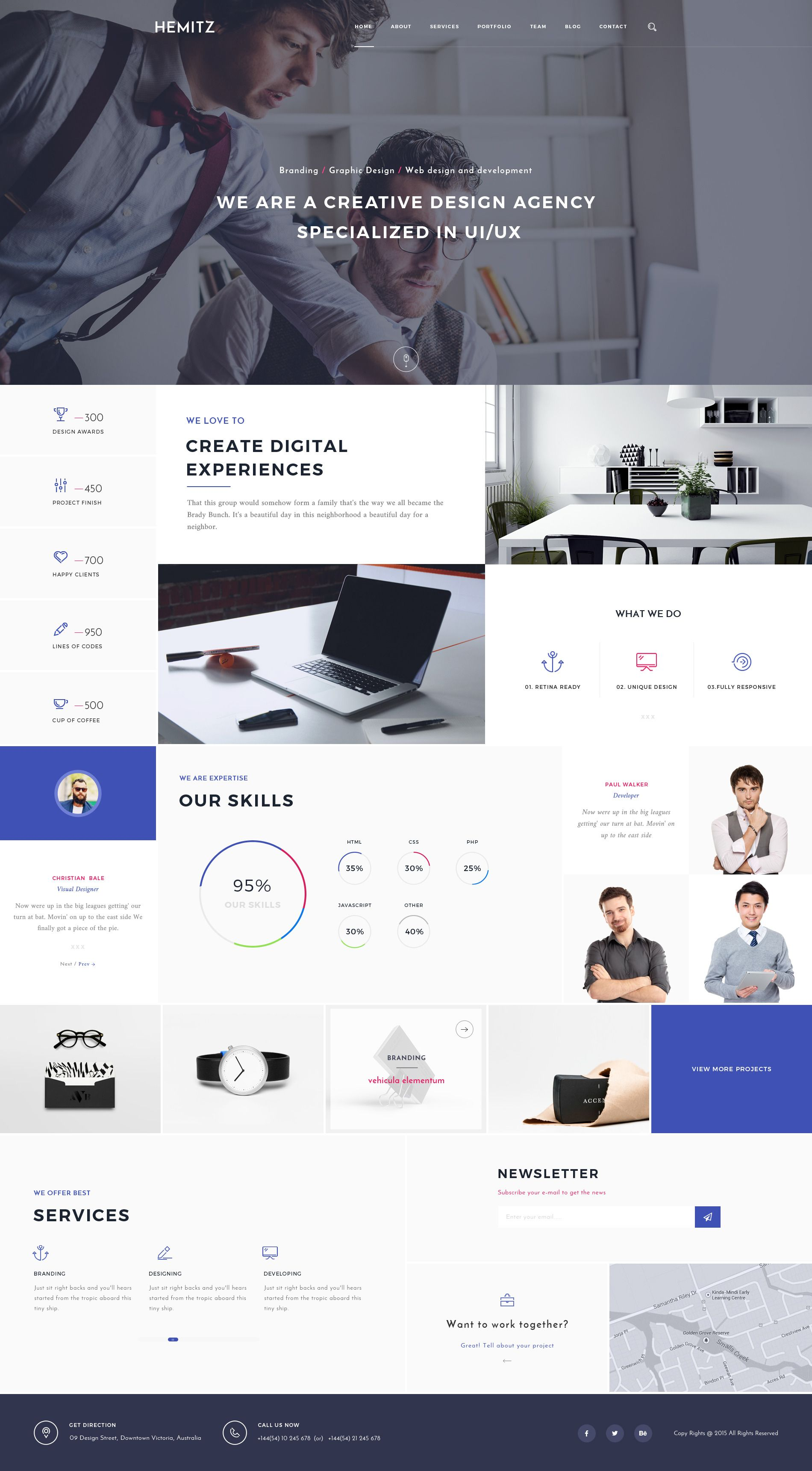 Business Wordpress Themes For Creatives Design Web Theme