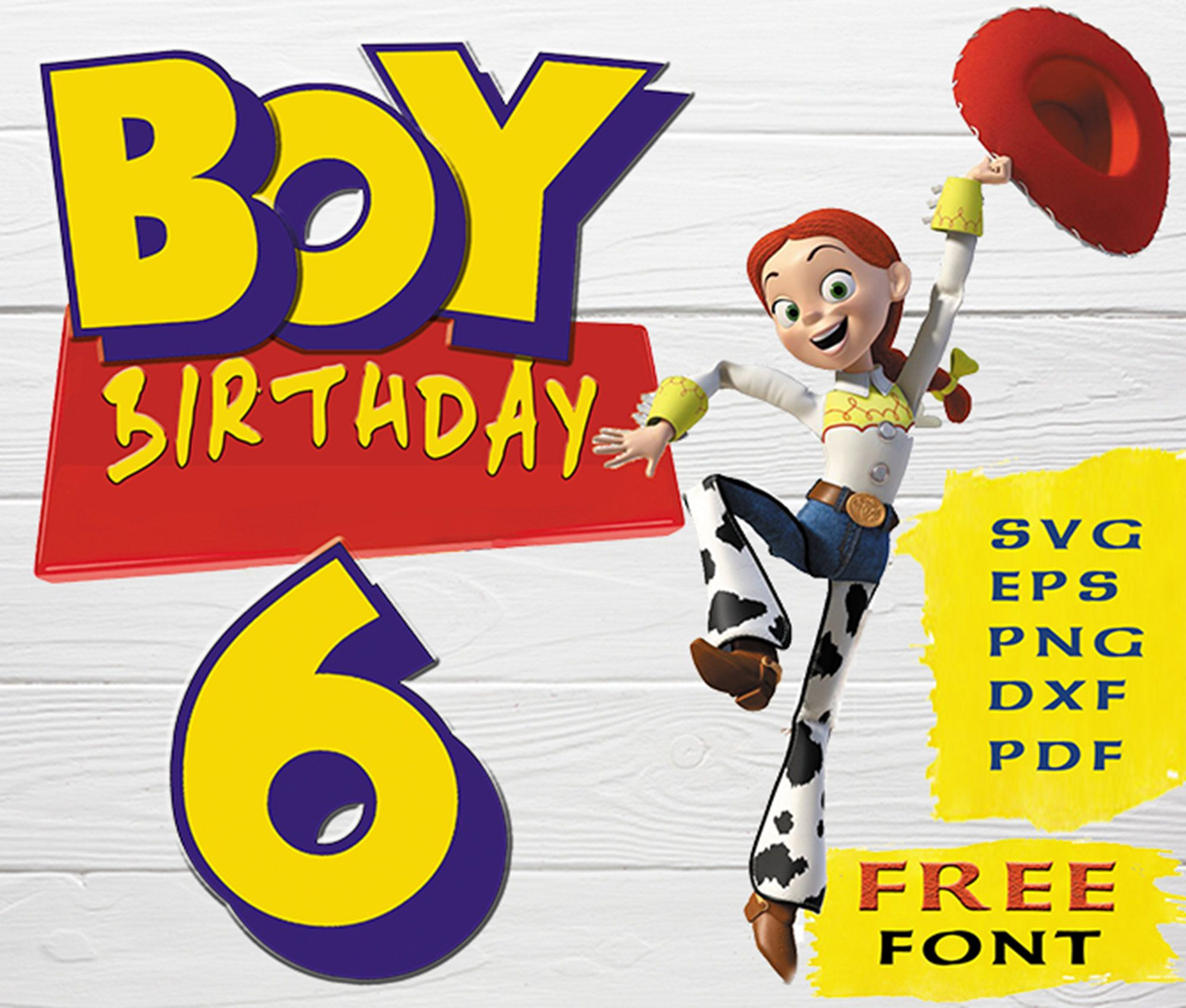 Toy Story 6th Year Birthday Svg Toy Story Svg Toy Story 4 Cutfiles Toy Story Cricut Png Cutfiles For Cricut Silhouette Toy Story Clipart In 2020 Toy Story Birthday Boy Birthday Birthday Toys