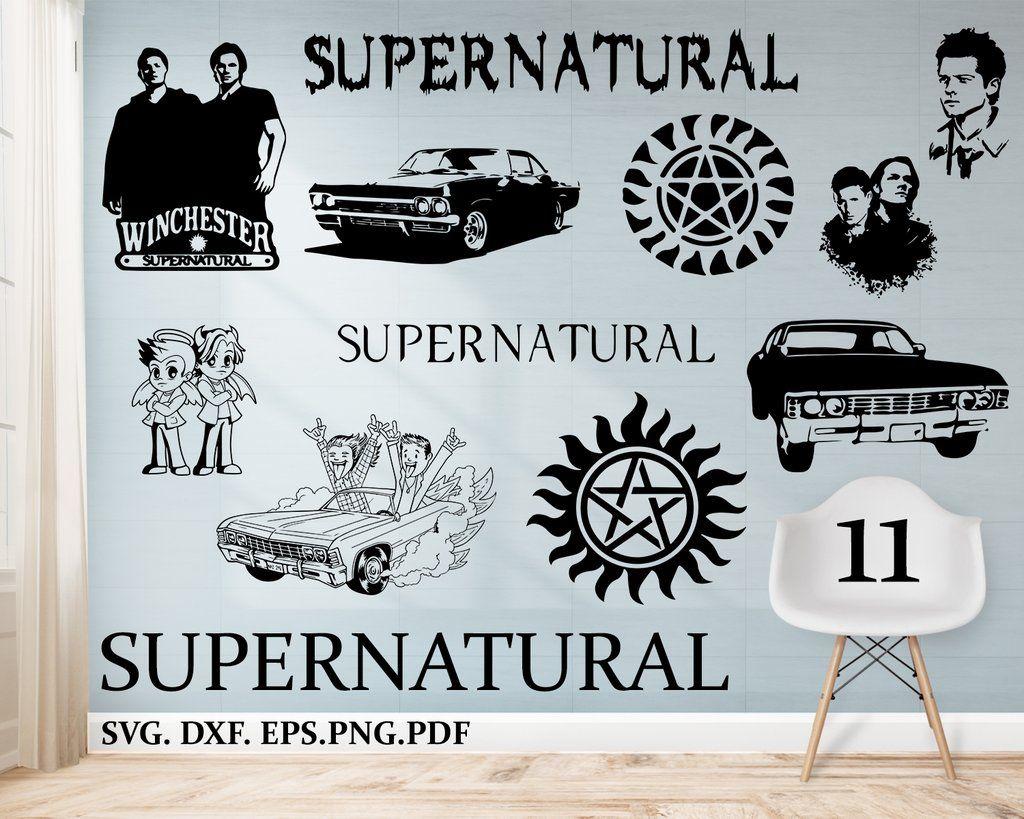 Supernatural svg, supernatural decal, silhouette svg