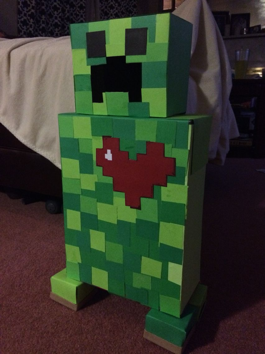 School Valentineu0027s Day Card Box #Minecraft #Creeper #ValentinesDay