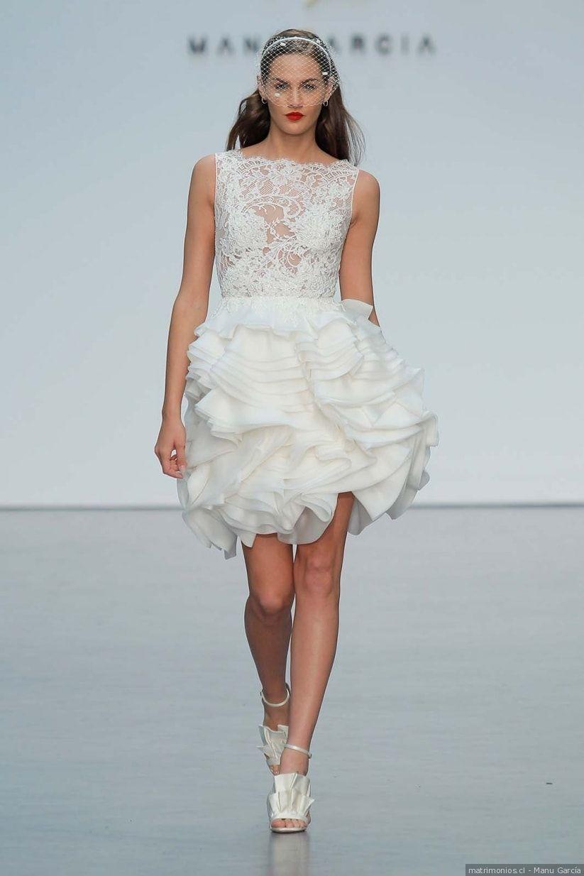 40 vestidos de novia cortos: cómodos y sensuales | Vestidos de novia ...