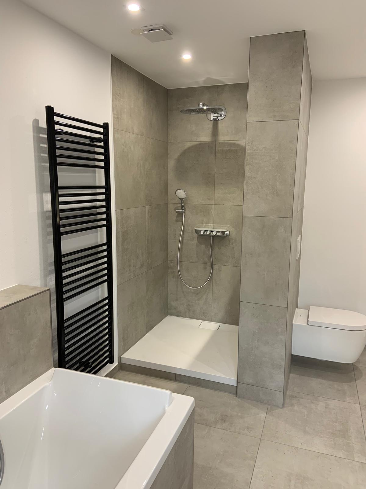 Dusche Bad Fliese Schoner Wohnen Urban Ivory Betonoptik Schoner Wohnen Betonoptik Dusche