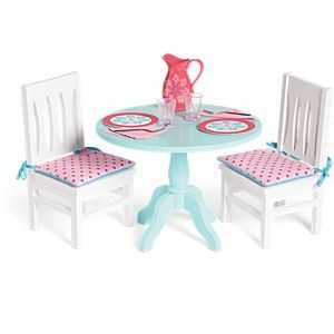 Table & Chairs Set for Dolls | American Girl #americangirlhouse