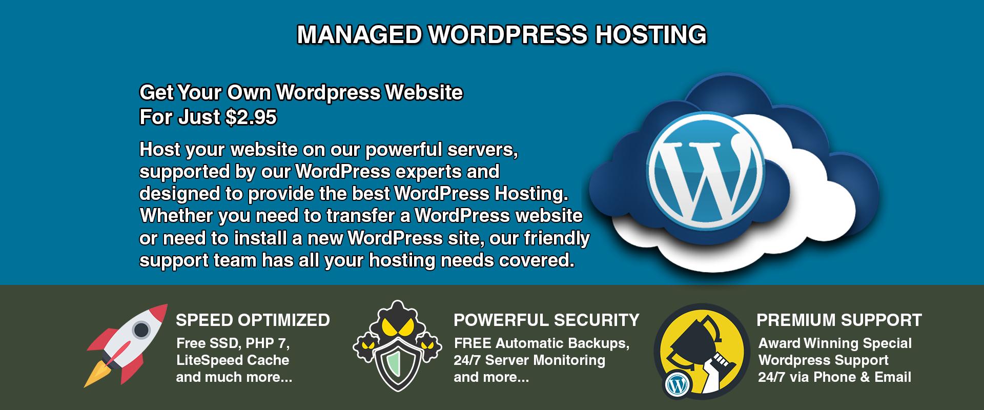 WordPress Hosting 2019 Free Auto SSL Blazing Fast