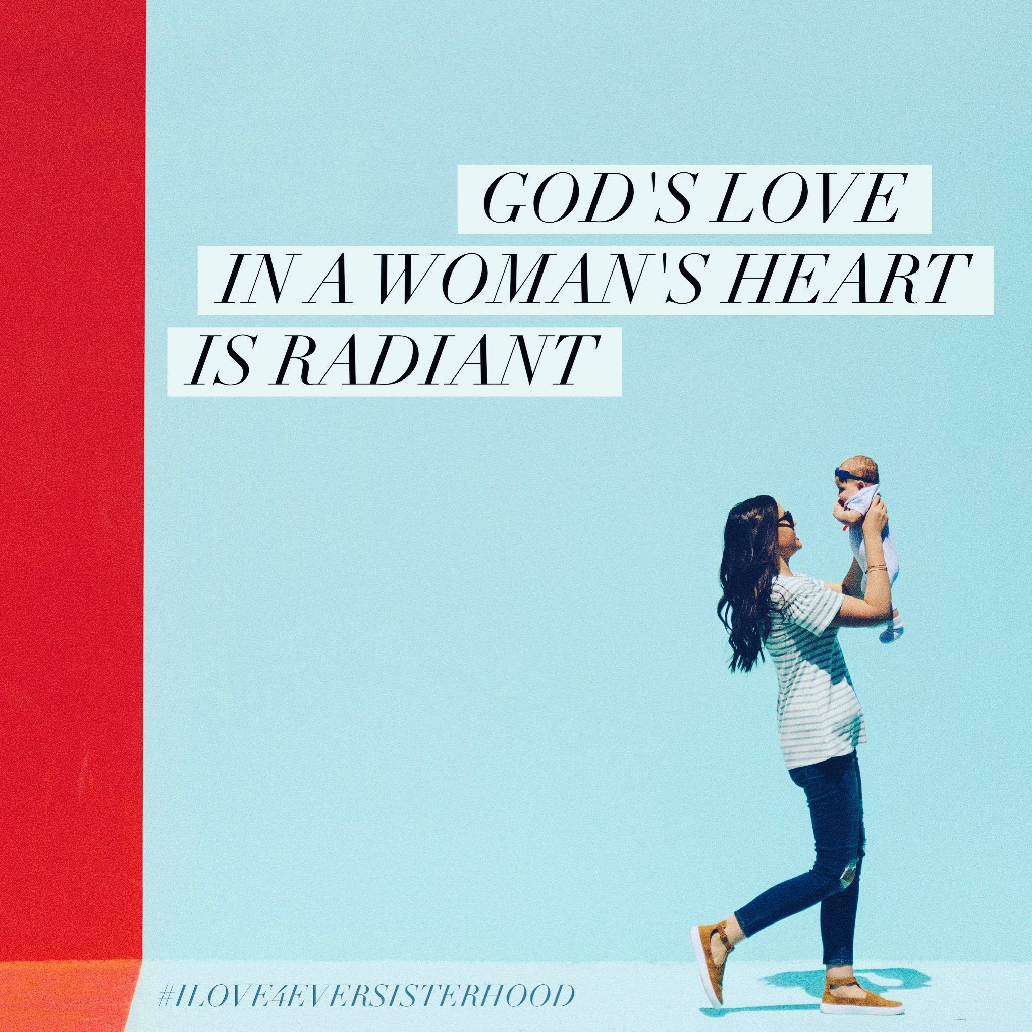 God's love in a woman's heart is radiant