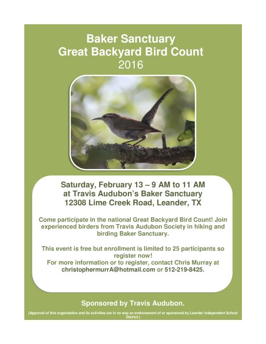 Baker Sanctuary Great Backyard Bird Count | Great backyard ...