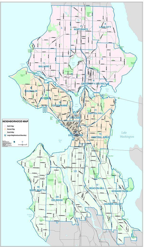 Seattle City Map Seattle City Clerk's Geographic Indexing Atlas | Holy spaces  Seattle City Map