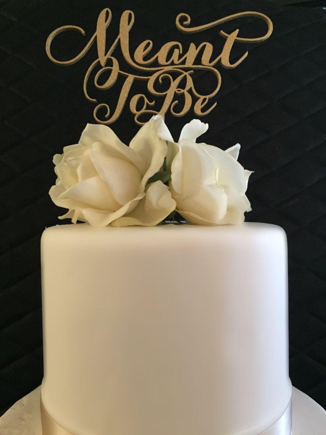 A personal favorite from my Etsy shop https://www.etsy.com/listing/227634657/meant-to-be-cake-topper-for-weddings