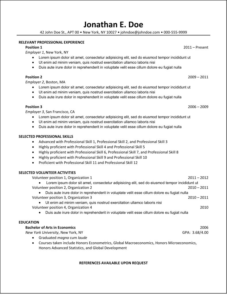 best resume example intended for inspiring ideal brefash regarding