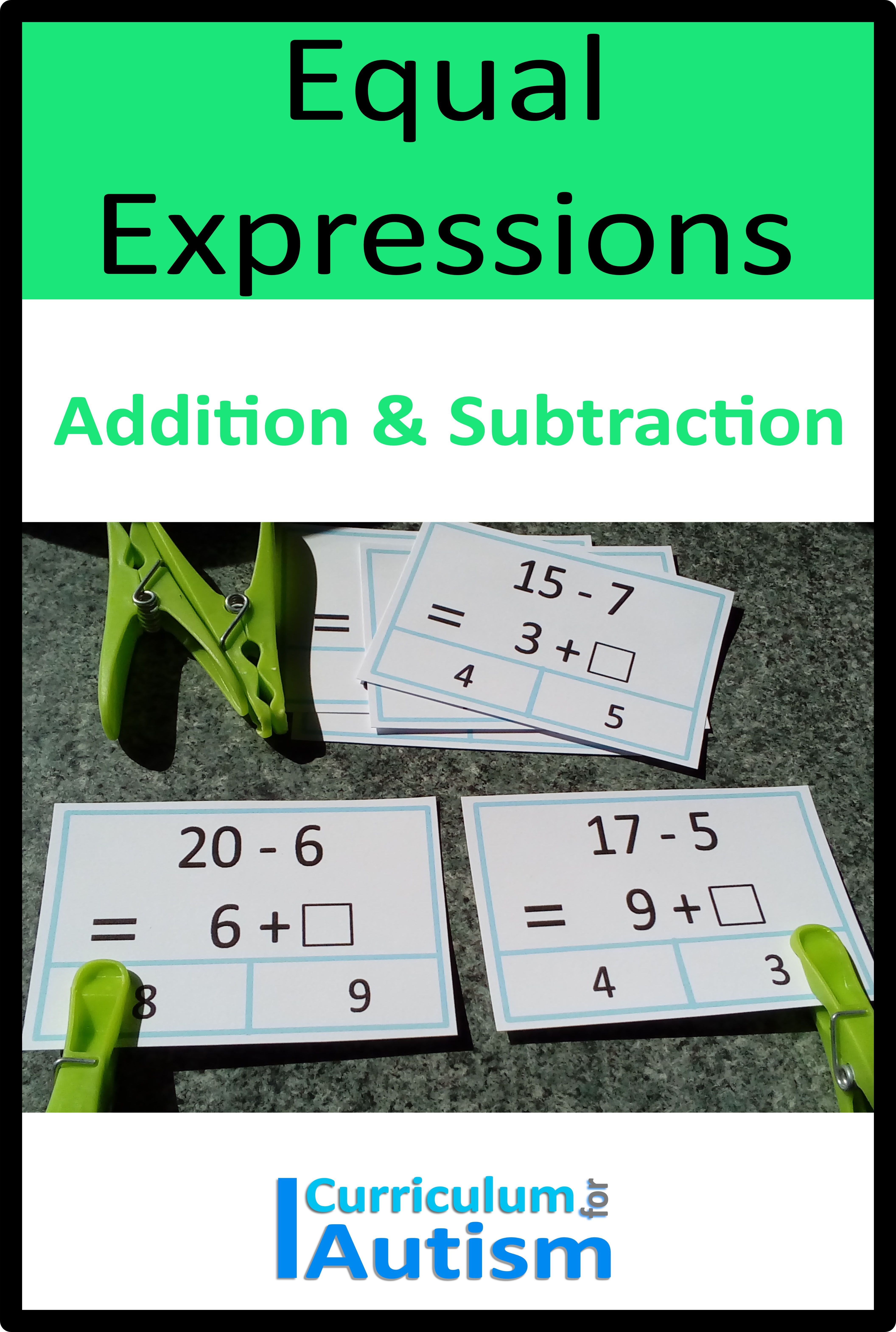 Equal Expressions Addition Amp Subtraction Within 20