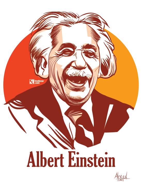 Albert Einstein Vector Potrait Fredtezar Einstein Albert Einstein Potrait