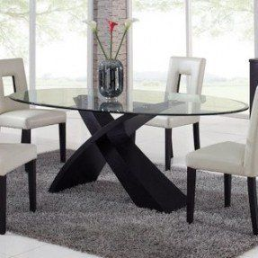 0a942d8ddec Global Furniture Exclaim Oval Glass Dining Table - modern - Oval Glass  Dining Table