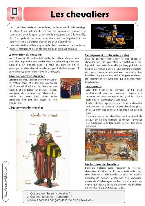 Extrêmement documentaire le Moyen-Age : les chevaliers | Histo.09 : Moyen-Âge  QO85