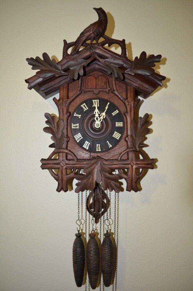 Vintage Black Forest Cuckoo Clock | Antique German Black