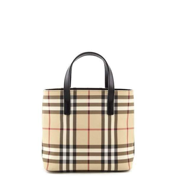 Burberry Nova Check Coated Canvas Small Tote Bag Love That Bag Preowned Authentic Designer Handbags Small Tote Bags Bags Authentic Designer Handbags