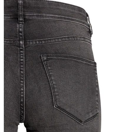 Super Skinny Regular Jeans | Sort washed out | Dame | H&M NO