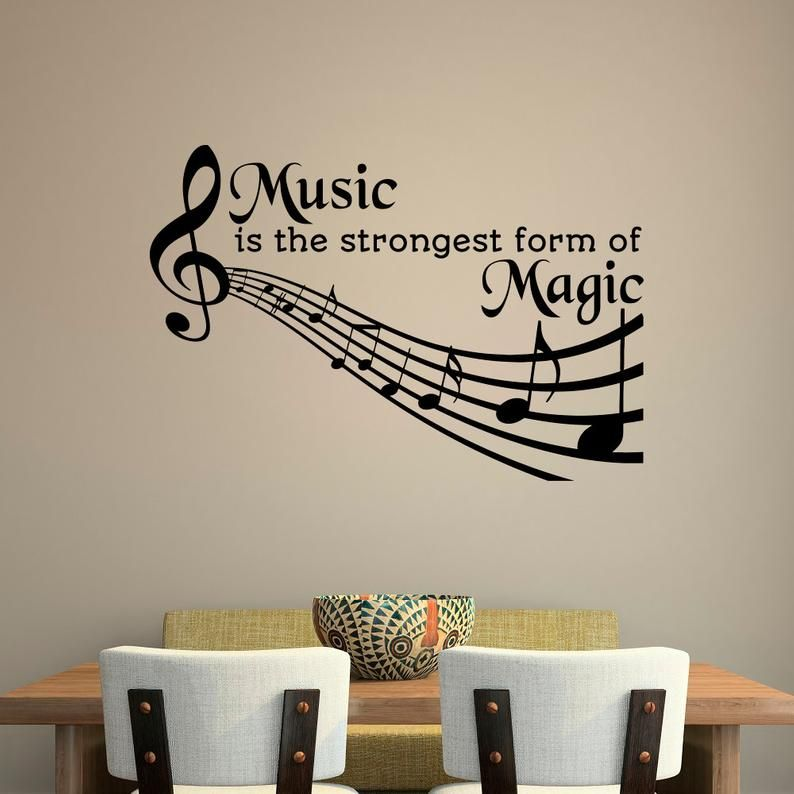 Treble Clef Music Notes Decal Wall decals Music Quote Vinyl Wall Decal Quote Vinyl Stickers Art Home Decor SM17