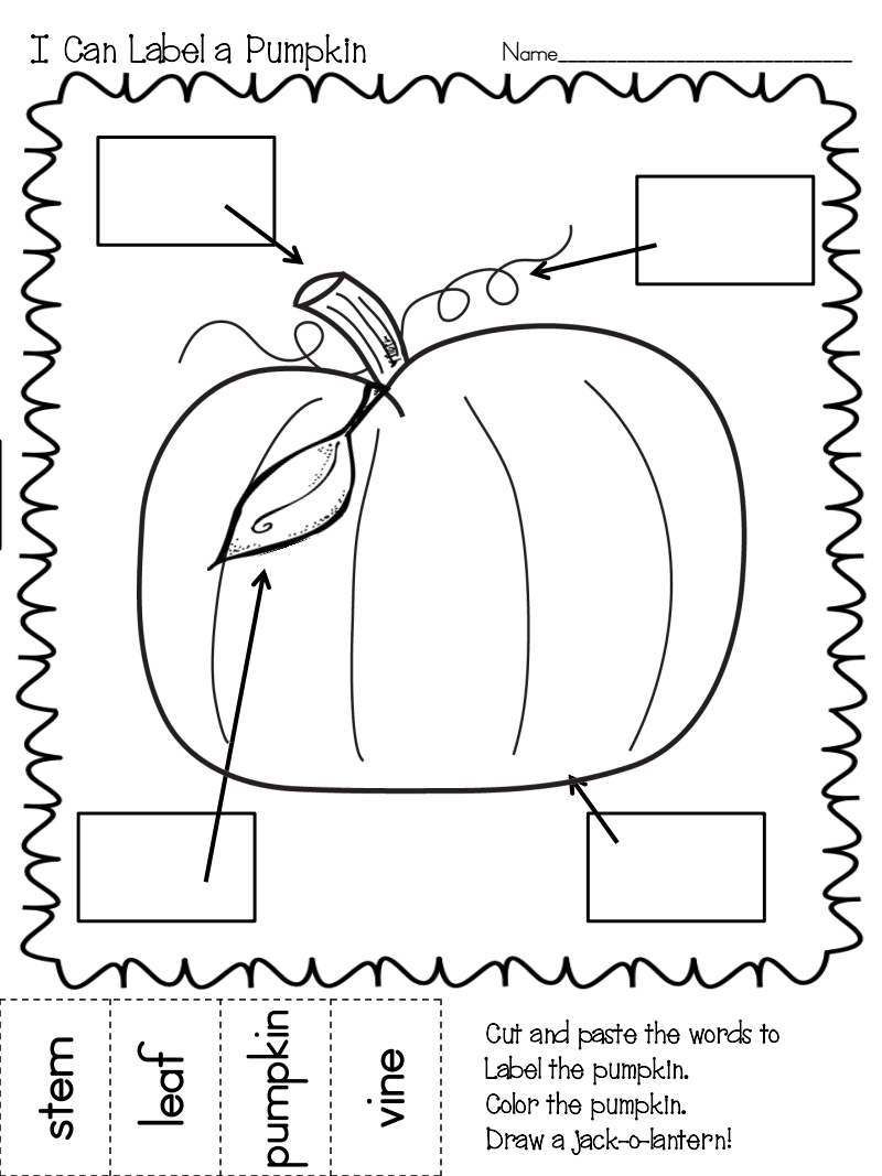 Label a Scarecrow Pumpkin.pdf label a pumpkin, lots of