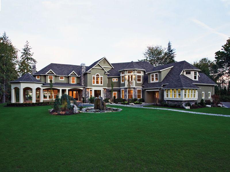 Upscale craftsman house plans