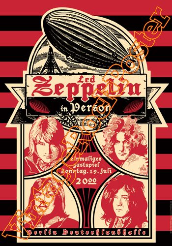 Cod 263 Led Zeppelin Berlin Deutschland Halle Berlin Germany 19 July 1970 Led Zeppelin Poster