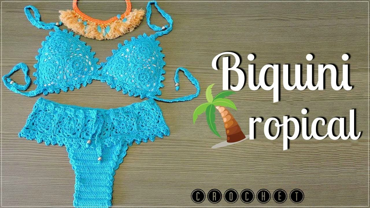 BIQUINI TROPICAL-PARTE I/DIANE GONÇALVES   croche regatas   Pinterest