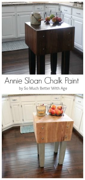 Butcher block makeover and dark wax fail fix annie for Diy chalk paint problems