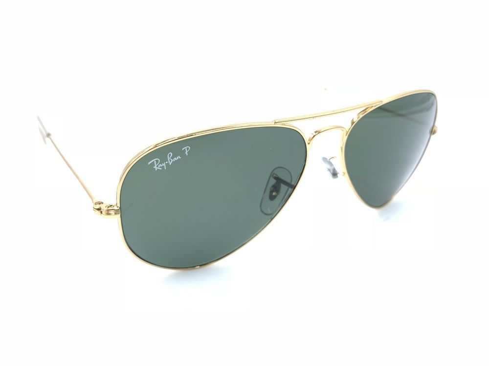 5bd59903b72e3 Ray-Ban RB 3025 001 58 Polarized Gold Aviator Sunglasses 58-14 Italy   fashion  clothing  shoes  accessories  unisexclothingshoesaccs   unisexaccessories ...