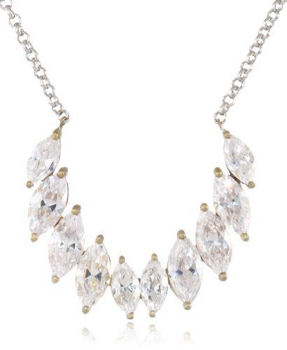 adea56112 $125.00. Items that are handmade may vary in size, shape and color. Made in  China. Silver plated chain. Pear cut stones