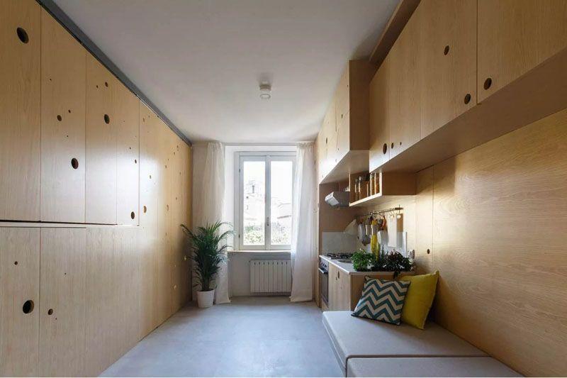 Living Big In A 48 SQM Apartment A Creative Design Approach Tiny Simple Apartment Complex Design Ideas Creative