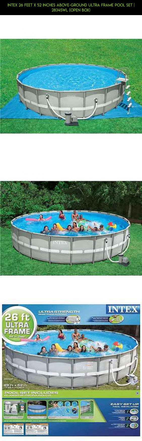 Intex 26 Feet x 52 Inches Above-Ground Ultra Frame Pool Set ...