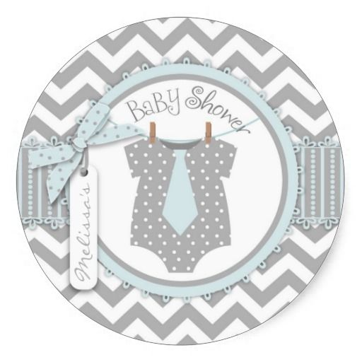 Tie Chevron Print Sticker R-BLGY! Make your own sticker more personal to celebrate the arrival of a new baby. Just add your photos and words to this great design.