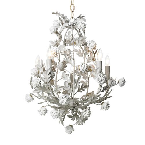 Rose Garden Chandelier In Snow White : Lighting For Girls At PoshTots  #PoshTotsNursery