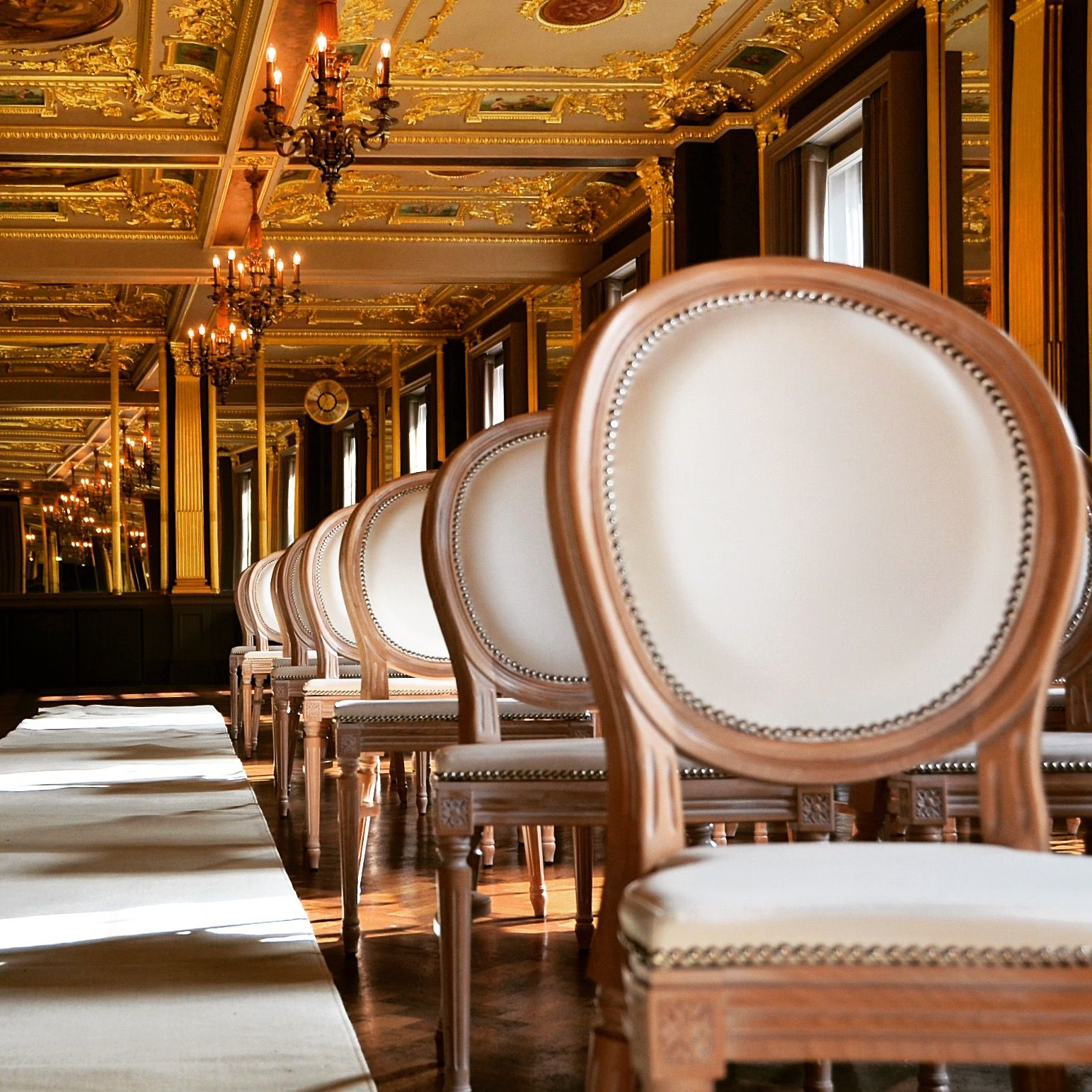 Louis Wedding Chair At Hotel Cafe Royal. Click Through For