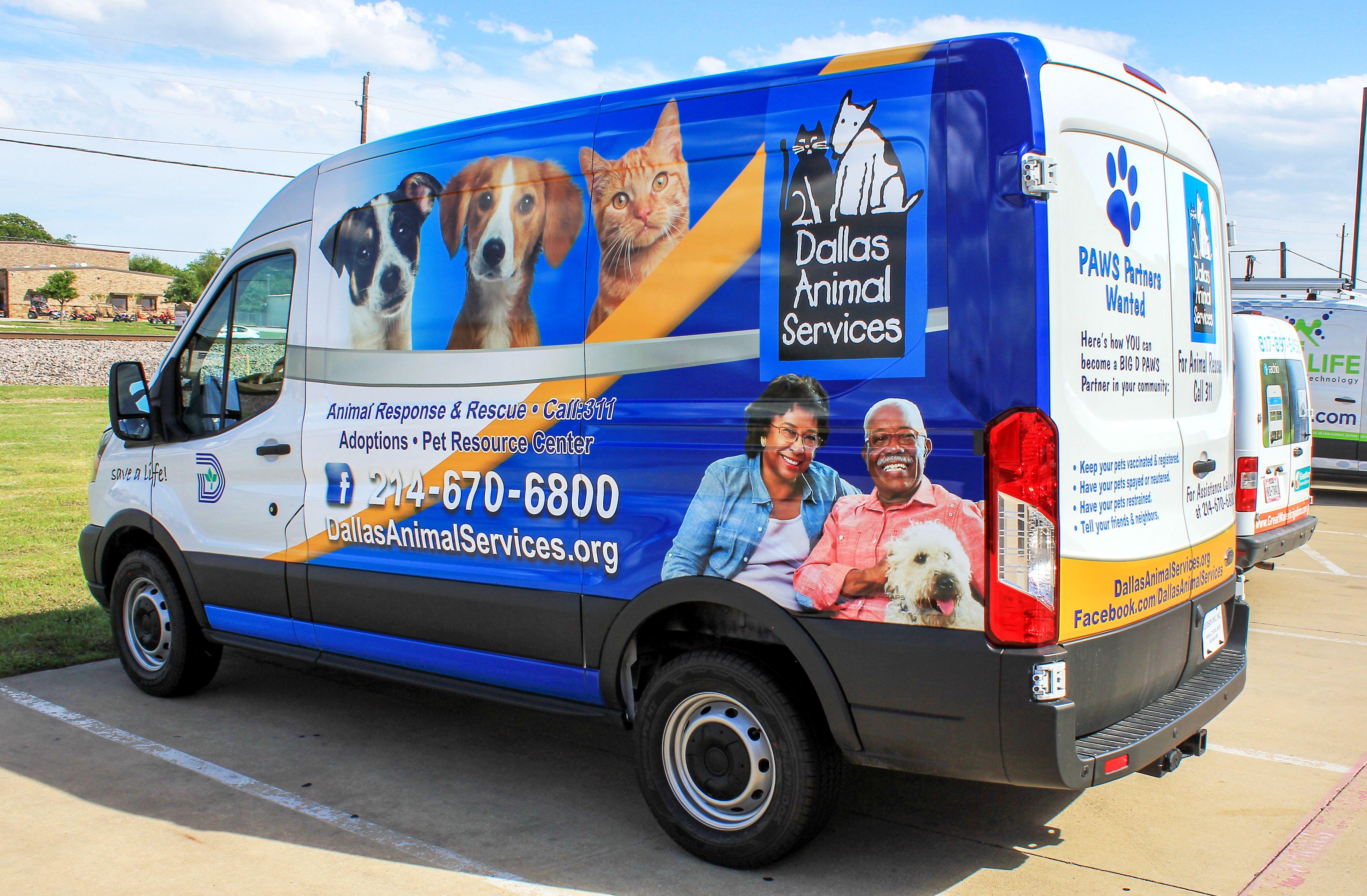 Dallas Animal Vans Chevy express, Catering van, Ford transit
