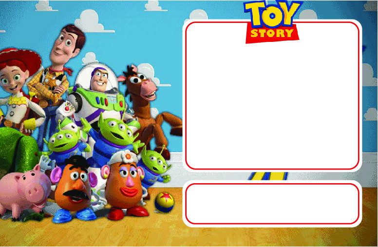 Crush image with free printable toy story invitations