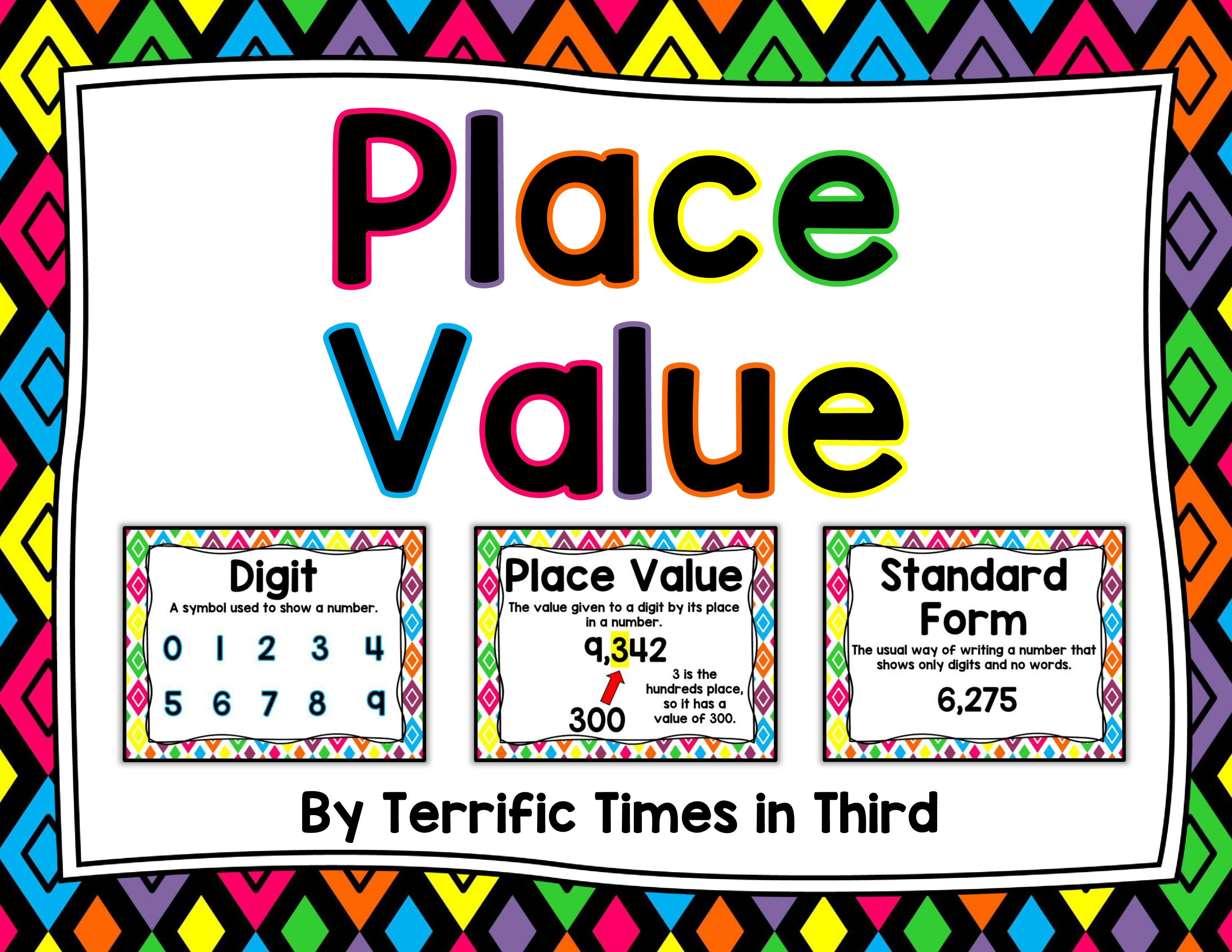 Place Value Anchor Charts