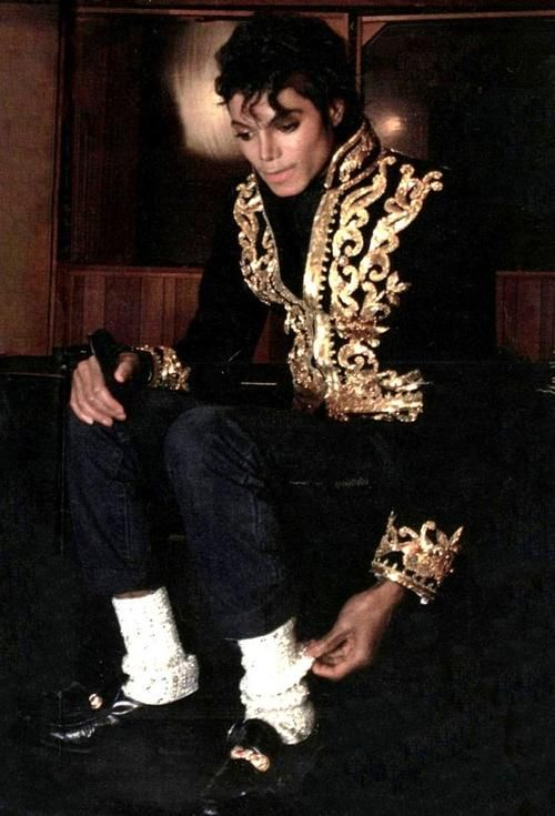 "mjjnews: ""I admit that I love starting trends, but I never thought wearing white socks was going to catch on. Not too long ago it was considered extremely square to wear white socks. It was cool in the 1950's, but in the '60's and '70's you wouldn't be caught dead in white socks. It was too square to even consider -for most people. But I never stopped wearing them. Ever. My brothers would call me a dip, but I didn't care. […]They'd all tell me I was a goofball. But I still wore my white…"