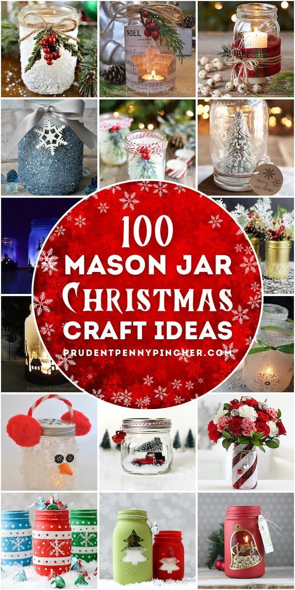 Photo of 100 Mason Jar Christmas Crafts