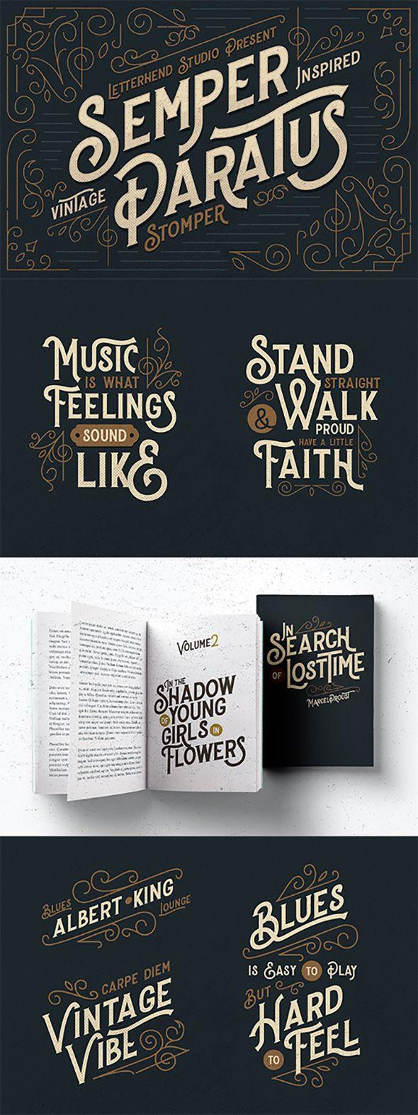 Stopmer A Vintage Display Font Vintage Typography Lettering Retro Typography