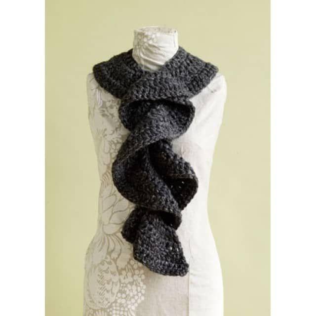 Flirty Ruffle Scarf Pattern (Crochet) - Lion Brand Yarn | Scarfs ...